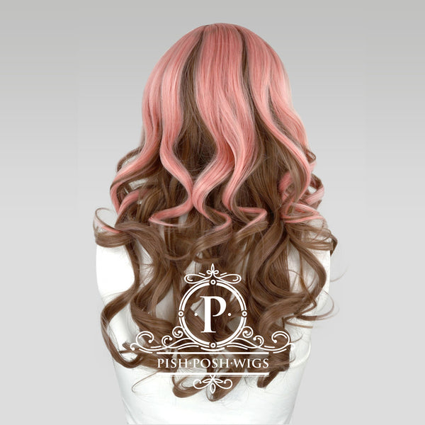 Yona Two Tone Neapolitan Pink Brown Fashion Wig Back View