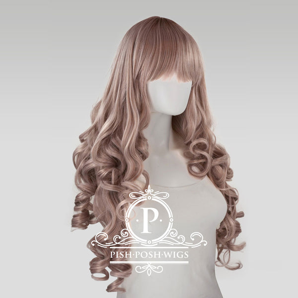 Elizabeth Dark Brown Curly Wig Profile View