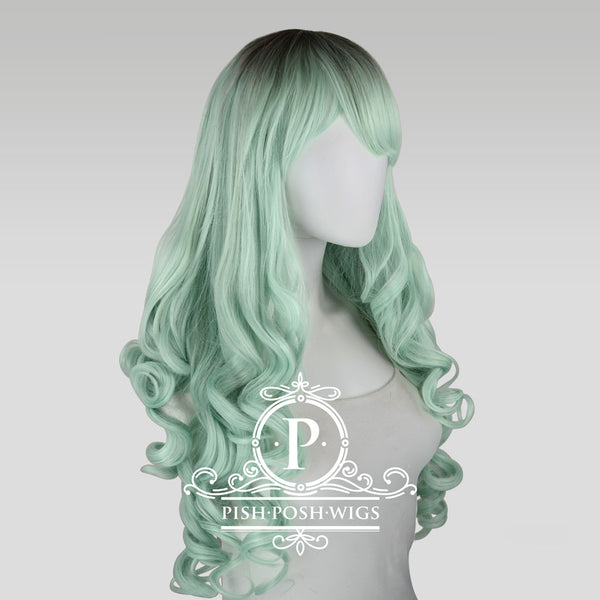 Elizabeth Mint Curly Wig Profile View