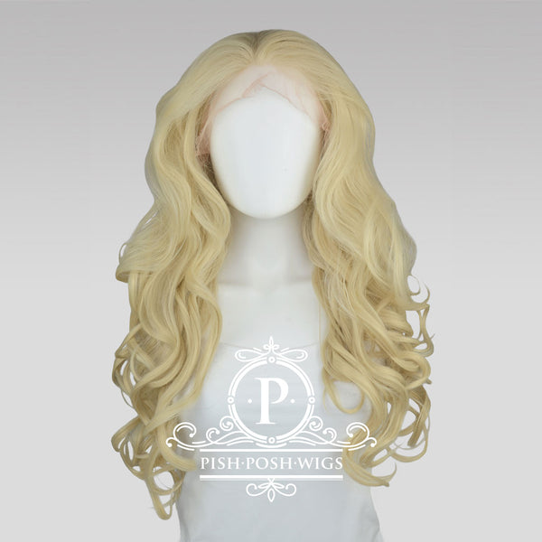 Stefeni Natural Blonde Lace Front Wig Frontal View