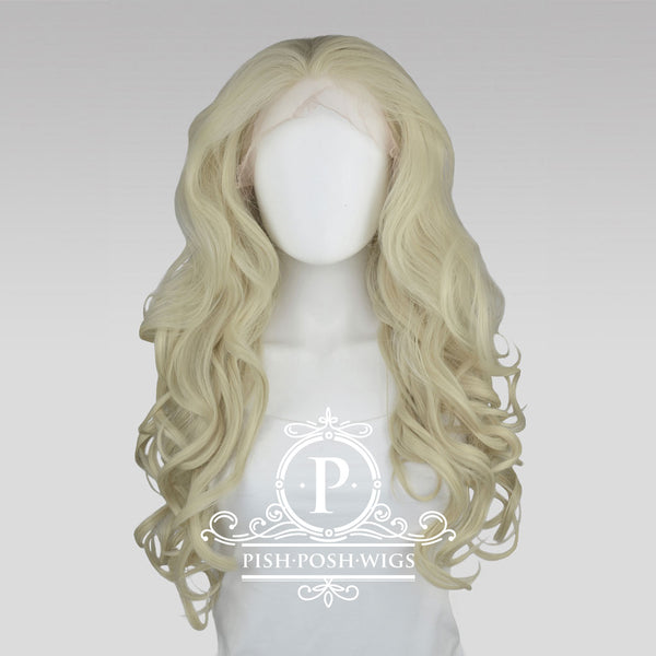 Stefeni Platinum Blonde Lace Front Wig Frontal View