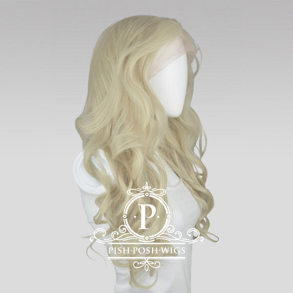 Stefeni Platinum Blonde Lace Front Wig Profile View