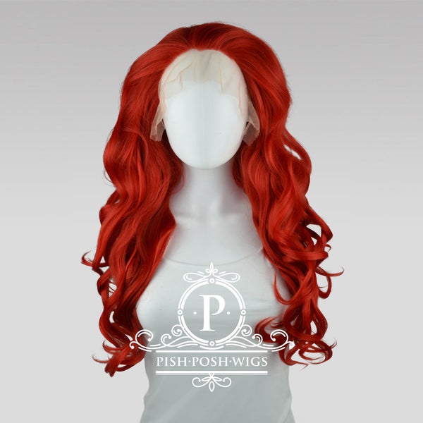 Stefeni Red Lace Front Wig Frontal View