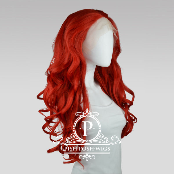 Stefeni Red Lace Front Wig Profile View