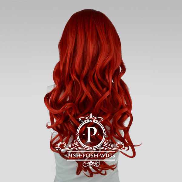 Stefeni Red Lace Front Wig Back View
