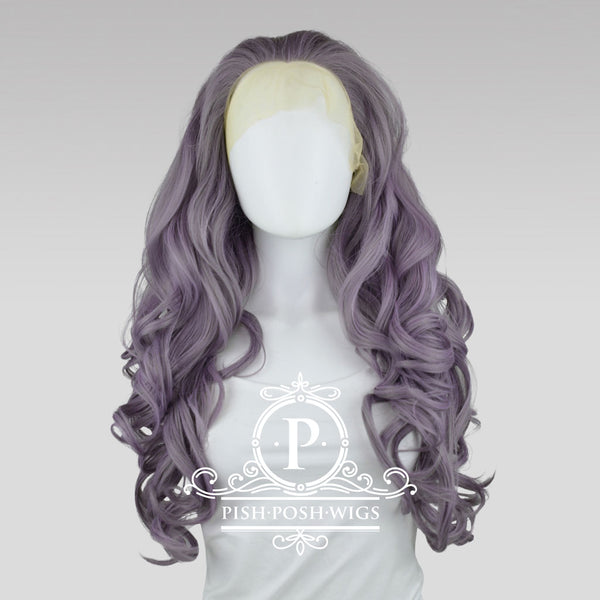 Stefeni Taro Purple Lace Front Wig Frontal View