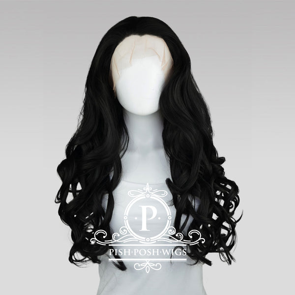 Stefeni Black Lace Front Wig Frontal View