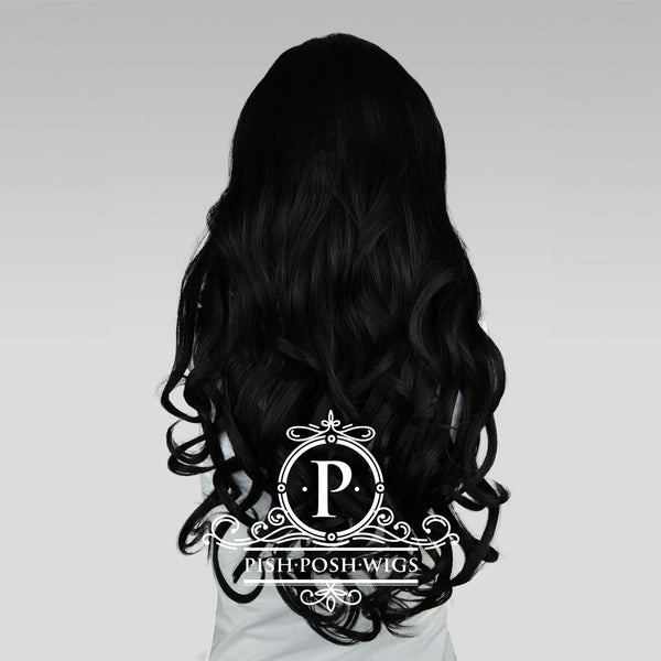 Stefeni Black Lace Front Wig Back View