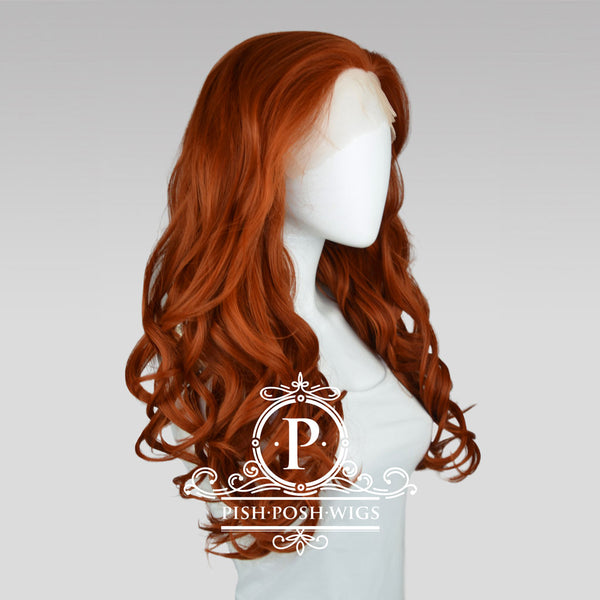 Stefeni Copper Red Lace Front Wig Profile View