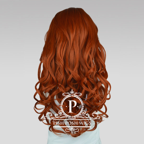 Stefeni Copper Red Lace Front Wig Back View