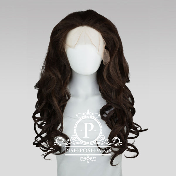 Stefeni Dark Brown Lace Front Wig Frontal View