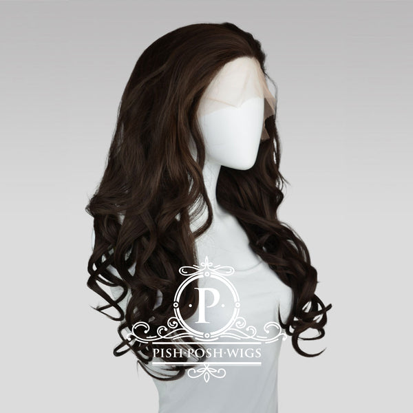 Stefeni Dark Brown Lace Front Wig Profile View