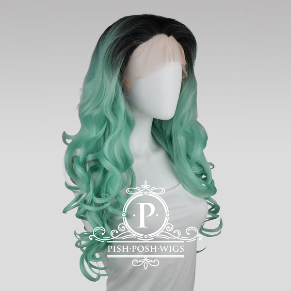 Stefeni Mint Ombre Lace Front Wig Profile View