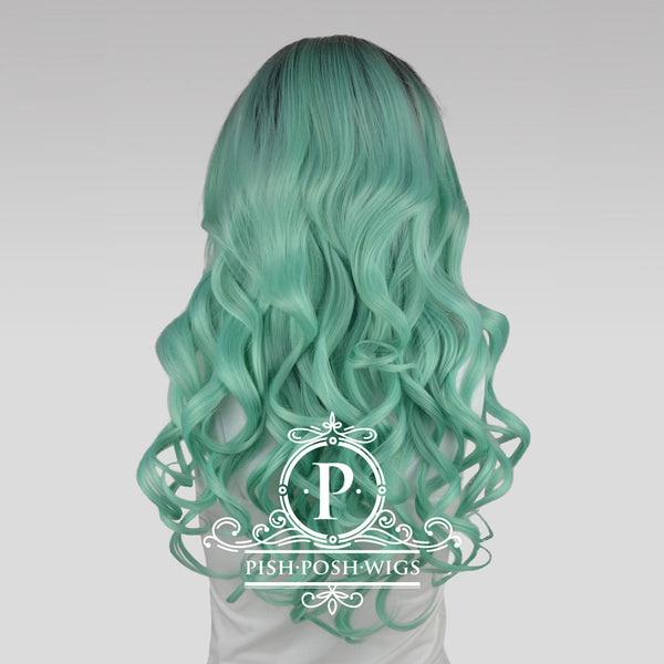 Stefeni Mint Ombre Lace Front Wig Back View