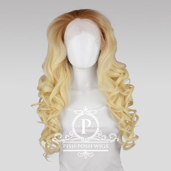 Stefeni Natural Blonde Ombre Lace Front Wig Frontal View