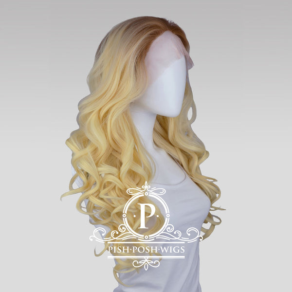 Stefeni Natural Blonde Ombre Lace Front Wig Profile View