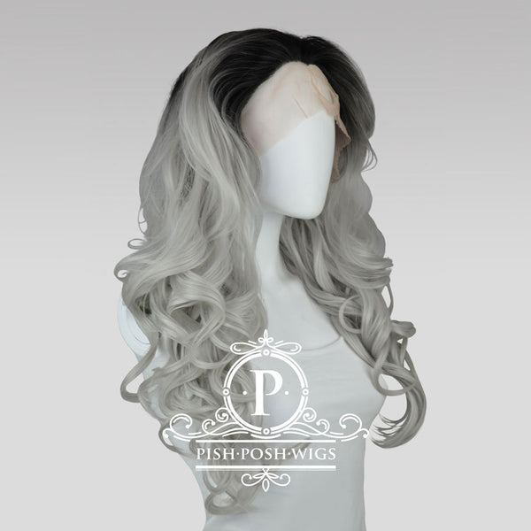 Stefeni Silver Ombre Lace Front Wig Profile View