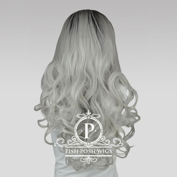 Stefeni Silver Ombre Lace Front Wig Back View