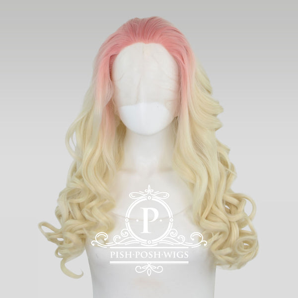 Stefeni Strawberry Lemonade Ombre Lace Front Wig Frontal View