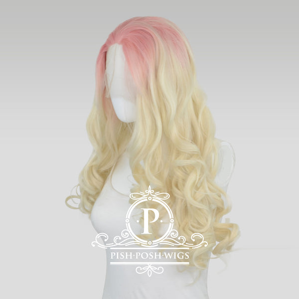 Stefeni Strawberry Lemonade Ombre Lace Front Wig Profile View