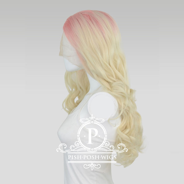 Stefeni Strawberry Lemonade Ombre Lace Front Wig Side View