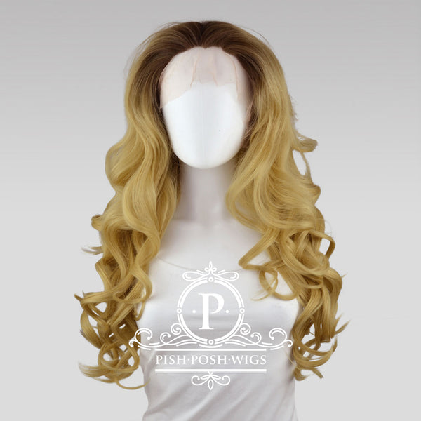Stefeni Caramel Blonde Ombre Lace Front Wig Frontal View