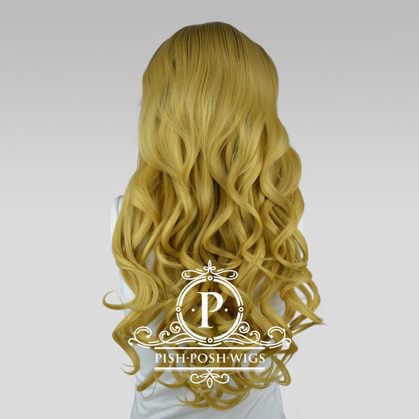 Stefeni Caramel Blonde Ombre Lace Front Wig Back View
