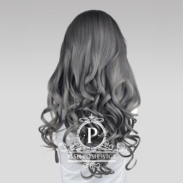 Stefeni Gunmetal Grey Ombre Lace Front Wig Back View