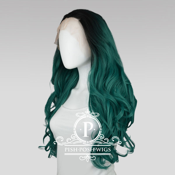Stefeni Emerald Green Ombre Lace Front Wig Side View