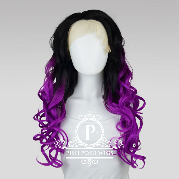 Stefeni Sangria Ombre Lace Front Wig Frontal View
