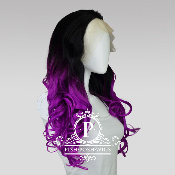 Stefeni Sangria Ombre Lace Front Wig Side View