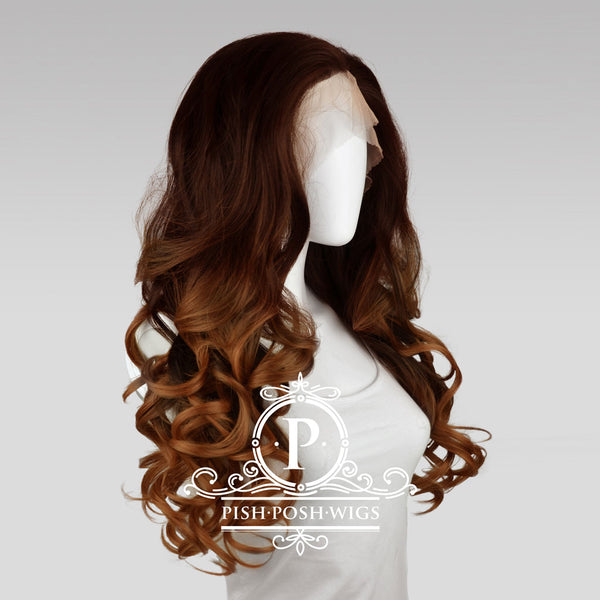 Stefeni Cocoa Brown Ombre Lace Front Wig Profile View