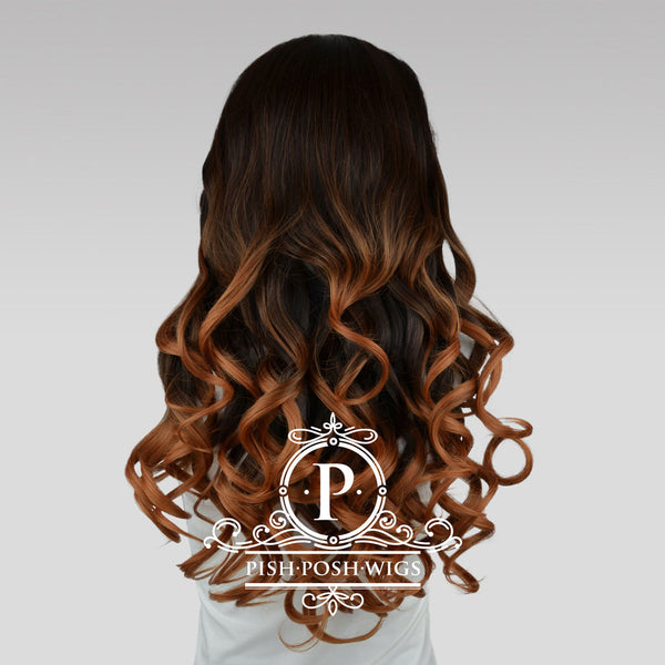 Stefeni Cocoa Brown Ombre Lace Front Wig Back View