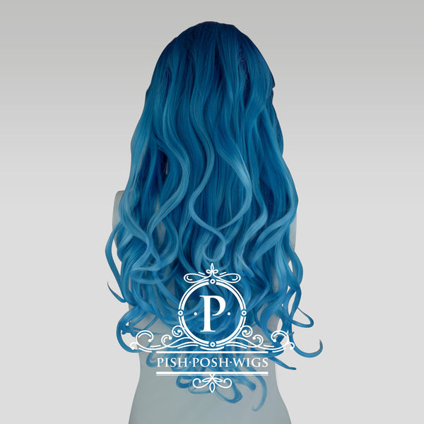 Stefeni Sea Blue Ombre Lace Front Wig Back View