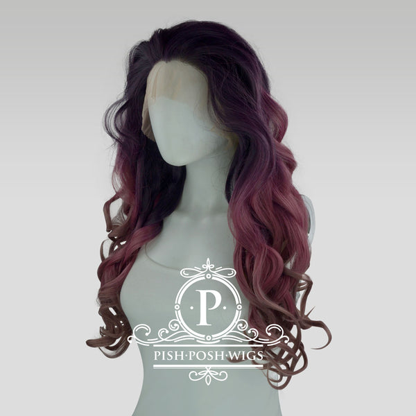 Stefeni Purple Dust Ombre Lace Front Wig Profile View