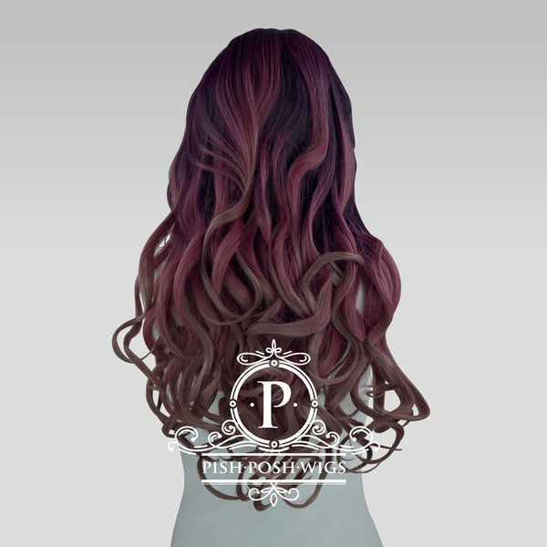 Stefeni Purple Dust Ombre Lace Front Wig Back View