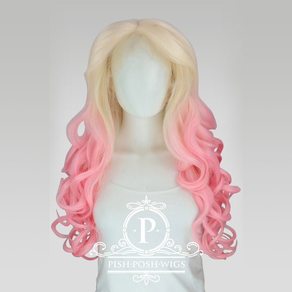 Stefeni Pink Blush Ombre Lace Front Wig Frontal View
