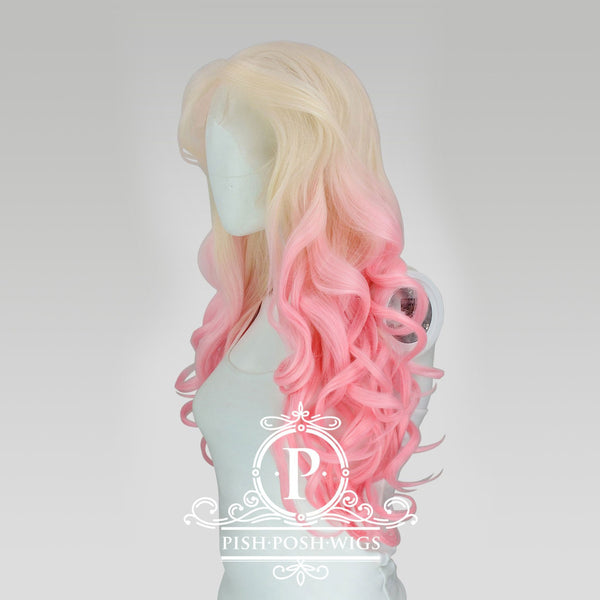 Stefeni Pink Blush Ombre Lace Front Wig Profile View