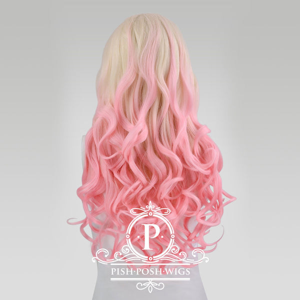 Stefeni Pink Blush Ombre Lace Front Wig Back View