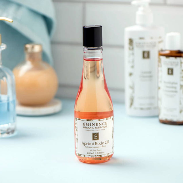 Eminence Organics Apricot Body Oil - Available at Thai-Me Spa in Hot Springs, AR