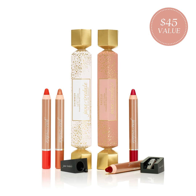 Jane Iredale Holiday Lip Kit for 2020 - Available at Thai-Me Spa in Downtown Hot Springs, AR