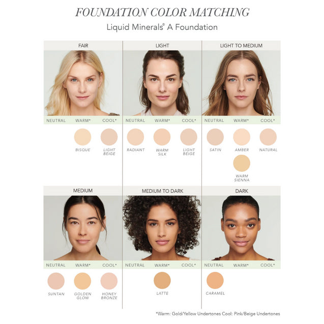 Liquid Minerals A Foundation - Color Shades