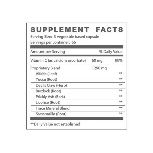 M'lis Relief Muscle and Joint Aid Supplement Facts - Thai-Me Spa - Hot Springs, AR