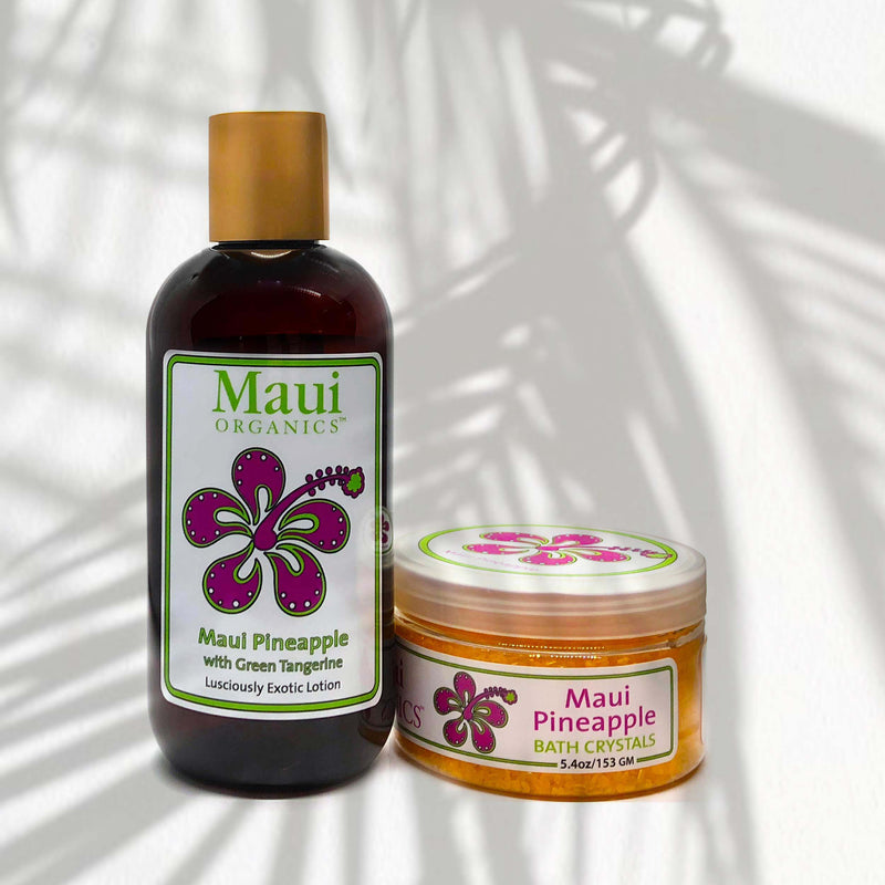 PINEAPPLE MAUI ORGANICS BODY LOTION & SALTS