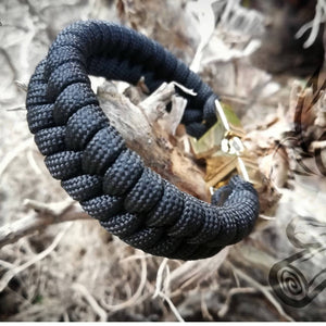 Black Fishtail w/ Gold Metal Buckle