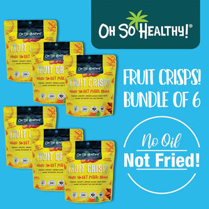 Oh So Healthy! Fruit Crisps - Mango - Bundle of 6 - 40g