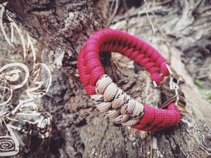 Crimson Red/Desert Camo Fishtail with Silver Metal Buckle