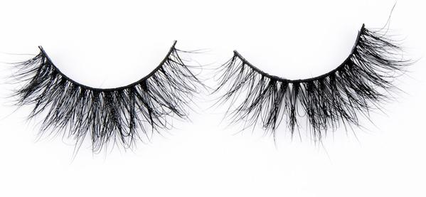 A set of full, voluminous 3D mink false lashes from Matrix Lash against a plain white background.