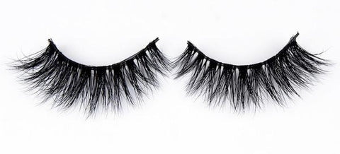 A set of full, tousled 3D mink false lashes from Matrix Lash against a plain white background.