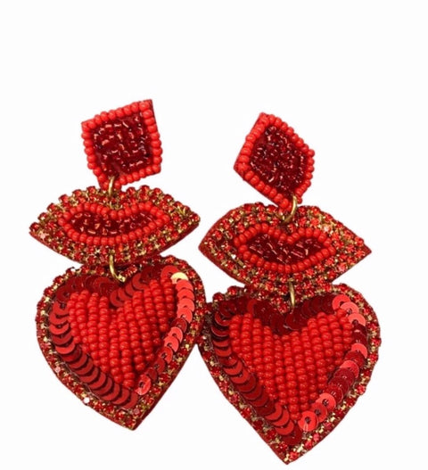 BIG KISSES EARRINGS